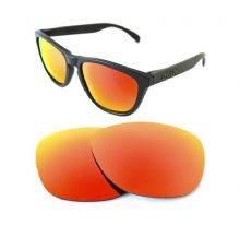 NEW POLARIZED CUSTOM FIRE RED LENS FOR OAKLEY FROGSKINS SUNGLASSES